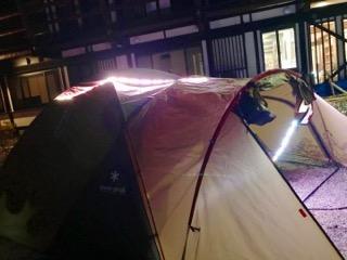 テント点灯