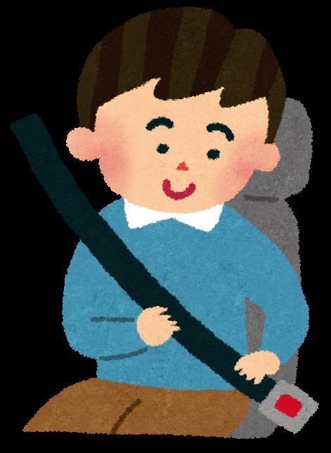 いらすとや:シートベルトをつけている男性のイラスト